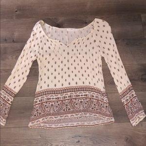 Long sleeve patterned shirt
